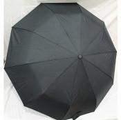 Зонт складной мужской в 3 сложения черный S.L. Венгрия