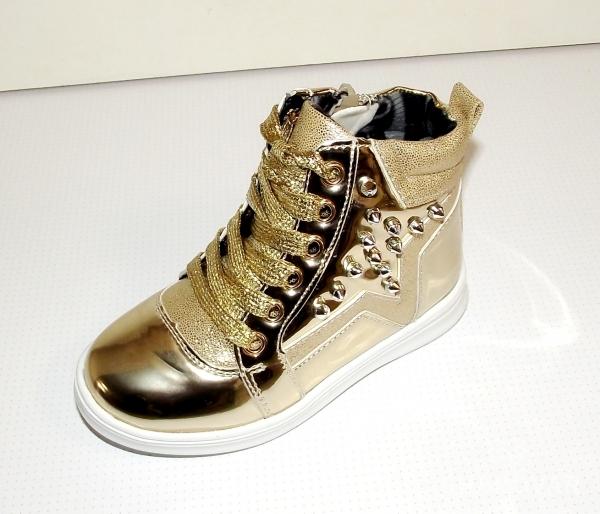 Ботинки демисезонные для девочек золото Мальвина 26 b5d31a8e573f4