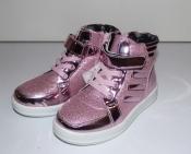 Ботинки демисезонные для девочек розовые Мальвина 26-29