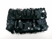 Клатч Sonia Rykiel ( оригинал ), вязаный, украшен пайетками, цвет - черный.