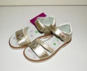 Босоножки кожаные золотые для девочек LOVE ( 25-30 )