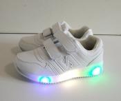 Кроссовки белые LED подсветка 31-36