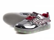 Подростковые кроссовки с LED подсветкой серебро 32-37