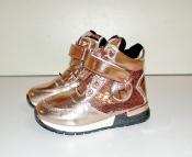 Ботинки кроссовки демисезонные для девочек золотистые 26-31