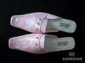 Розовые женские шлепанцы 35р. из искусственной кожи