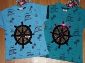 Детские  футболки  для мальчиков  с пайетками .
