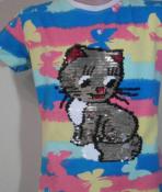 Детские  футболки с пайетками.