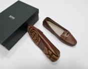 Мокасины Hugo Boss, оригинал, новые с коробкой, цвет- коричневый.