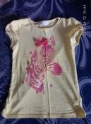очень красивая футболка с зеброй charles vogele на рост 122
