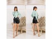 Костюм блуза+шорты+ремень