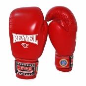 Боксерские перчатки красные REYVEL кожа 10 oz