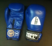 Перчатки боксерские ФБУ 10 унций синие Green Hill лицензированные Федерацией бокса Украины
