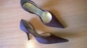 Статусные полностью кожаные туфли 39,5 р. Laura Mannini сток