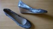 Легкие кожаные туфли 40р. 26 см. San Marina Франция, удобная танкетка
