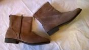 Удобные замшевые ботинки ботильоны 40р. 26 см. Esmara цвет тауп