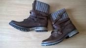 Фирменные кожаные ботинки 40р. 25,5 см. Steve Madden оригинал, стиль, качество