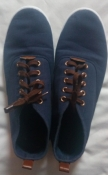 Мужские темно-синие кеды на шнурках - 43 размер, 28 см стелька