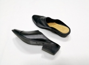 Туфли с открытой пяткой Schutz, Бразилия, кожа мягкая, отличное качество, цвет- черный.