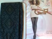 Модные колготки Gatta 2-S 40 den орнамент европейское качество