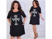 Платье Крест +++БАТАЛ