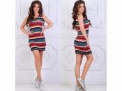 Платье цветная полоска