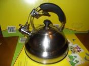 Чайник со свистком  нержавейка 2,5 литра