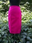 Юбка - карандаш с карманами Escada, оригинал, хлопок, цвет - фуксия.