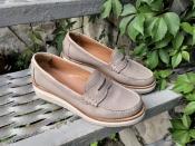 Женские туфли лоферы Santoni ( Сантони ), Италия, оригинал, кожаные.
