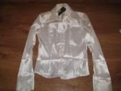 Продам новую шелковую блузку в мелкую полоску