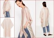 Длинный бомбер кимоно S/М, Zara сатиновый эффект тренд сезона, сток