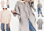 Длинный бомбер кимоно S/М, L, Zara сатиновый эффект тренд сезона, сток