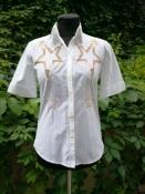 Рубашка / блуза Victor&Rolf,  оригинал, хлопок, цвет - белый, с вышивкой.