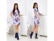 Платье с принтом 7007
