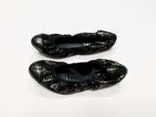 Балетки Chanel, оригинал, кожаные, цвет - черный.