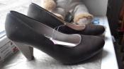 Германия коричневые классические туфли на низком каблуке 37 стелька 24