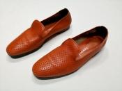 Лоферы / туфли Santoni, оригинал, мягчайшая перфорированная кожа.