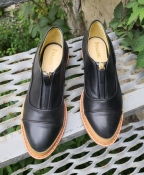 Туфли Pollini, оригинал, кожаные, цвет - черный.