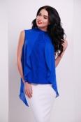 Блуза стильная синяя шифон