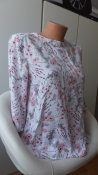 Стильная натуральная блуза с цветочным принтом под вышивку zebra s viscose