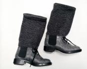 Ботинки Chanel ( Шанель ), кожа крокодила, твидовый носок, оригинал.