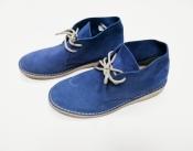 Замшевые ботинки Topytes ( Испания ), низкий ход, цвет - синий.