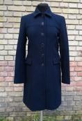 Шерстяное пальто Hugo Boss, оригинал, цвет - темно синий.