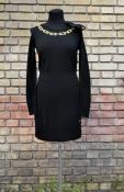 Платье Love Moschino,оригинал, цвет - насыщенный черный, новое.