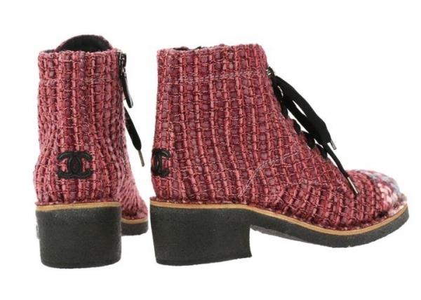 Ботинки Chanel ( Шанель ), оригинал, твид, новые. 6d7e55856be