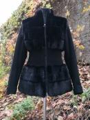 Полушубок из норки / меховая куртка трансформер Paradise Fashion.