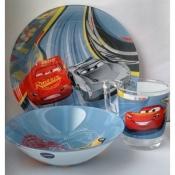 """Подарочный набор детской посуды с героями мультфильма """"Тачки"""" из 3-х предметов"""