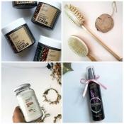 натуральное кокосовое масло, лавандовая вода, натуральные кофейные скарбы для тела, щётки для антицеллюлитного массажа!!!