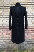 Шерстяное пальто Gucci ( Гуччи ), оригинал, цвет - черный, состояние нового.