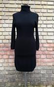 Трикотажное платье Elisabetta Franchi, оригинал, шерсть / вискоза, цвет - черный.