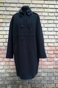 Пальто Marc Cain, Германия, оригинал, шерсть / ангора, цвет - серо / черный.